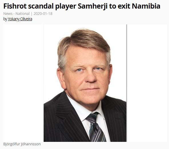 """,,Umdeilanlegar millifærslur geta numið allt að 2,5 milljörðum namibíu dala"""""""
